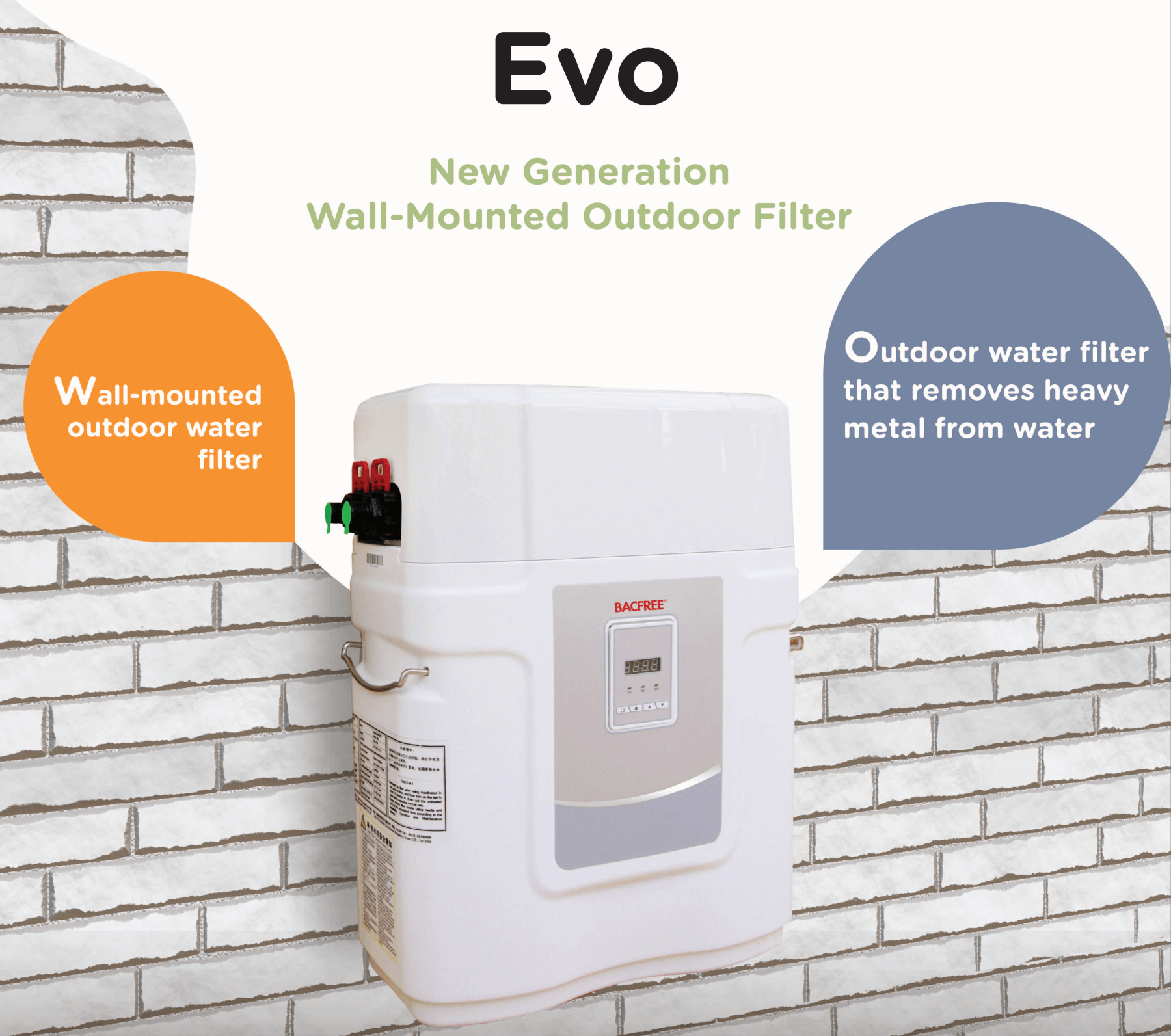 Evo Wall-Mounted Outdoor Filter