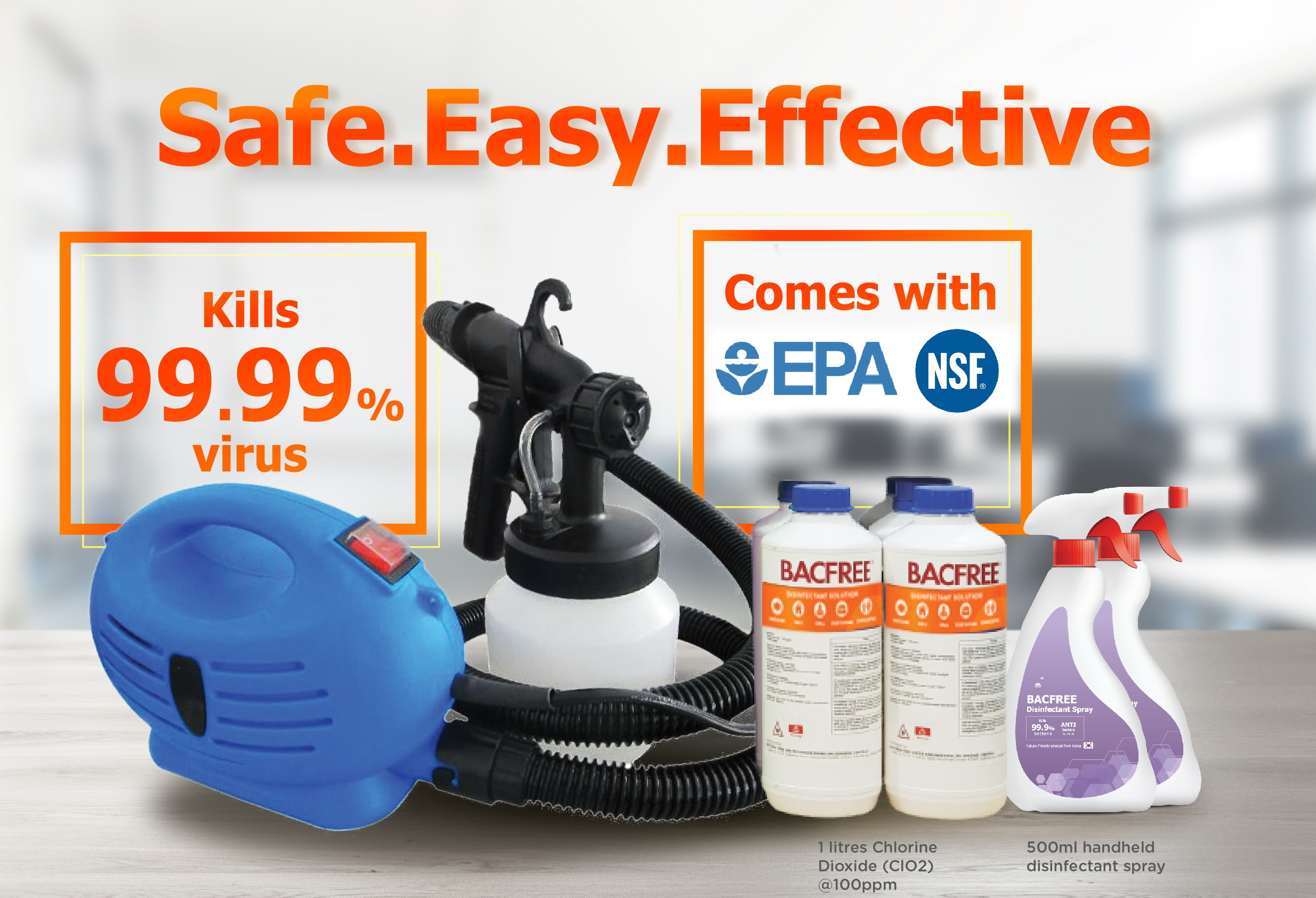 Bacfree Compact DIY Disinfection Machine